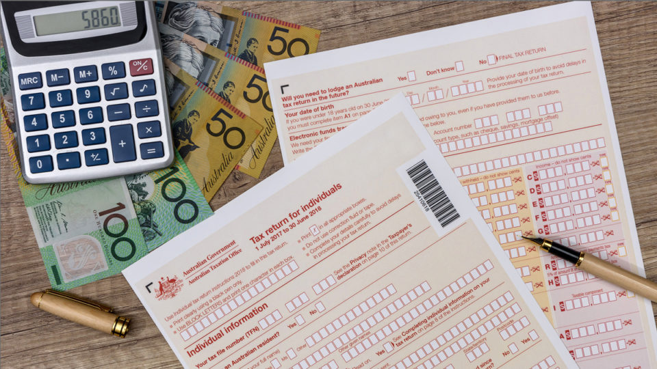 Australian taxation forms and money