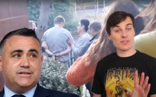 John Barilaro, Jordan Shanks, and his producer being arrested
