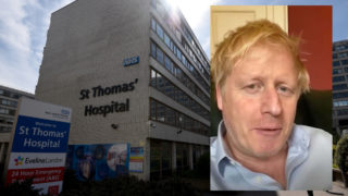 boris johnson icu coronavirus