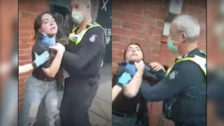 mask woman police arrest