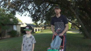 Julian Evans and his daughter.