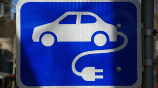 Electric vehicle charge sign