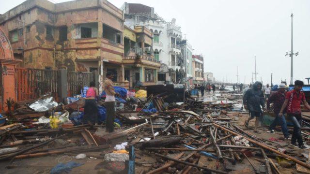 Eight dead and millions evacuated as Cyclone Fani slams India