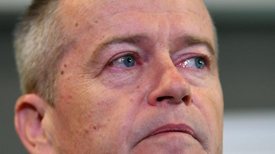 teary Bill Shorten