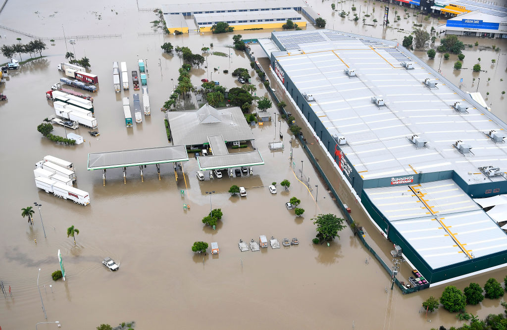A Bunnings Warehouse in Townesville following massive flooding in North Queensland.