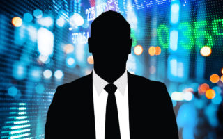A business man silhouette.