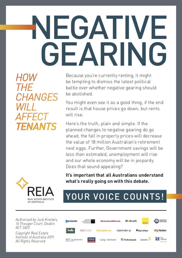 negative gearing scare
