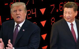 Xi Jinping and Donald Trump.