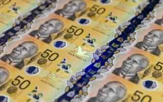 Australian 50 dollar notes.