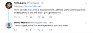 Game of Thrones tweet 2