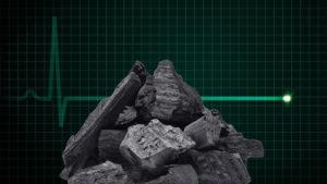 Coal on a heart rate moniter.