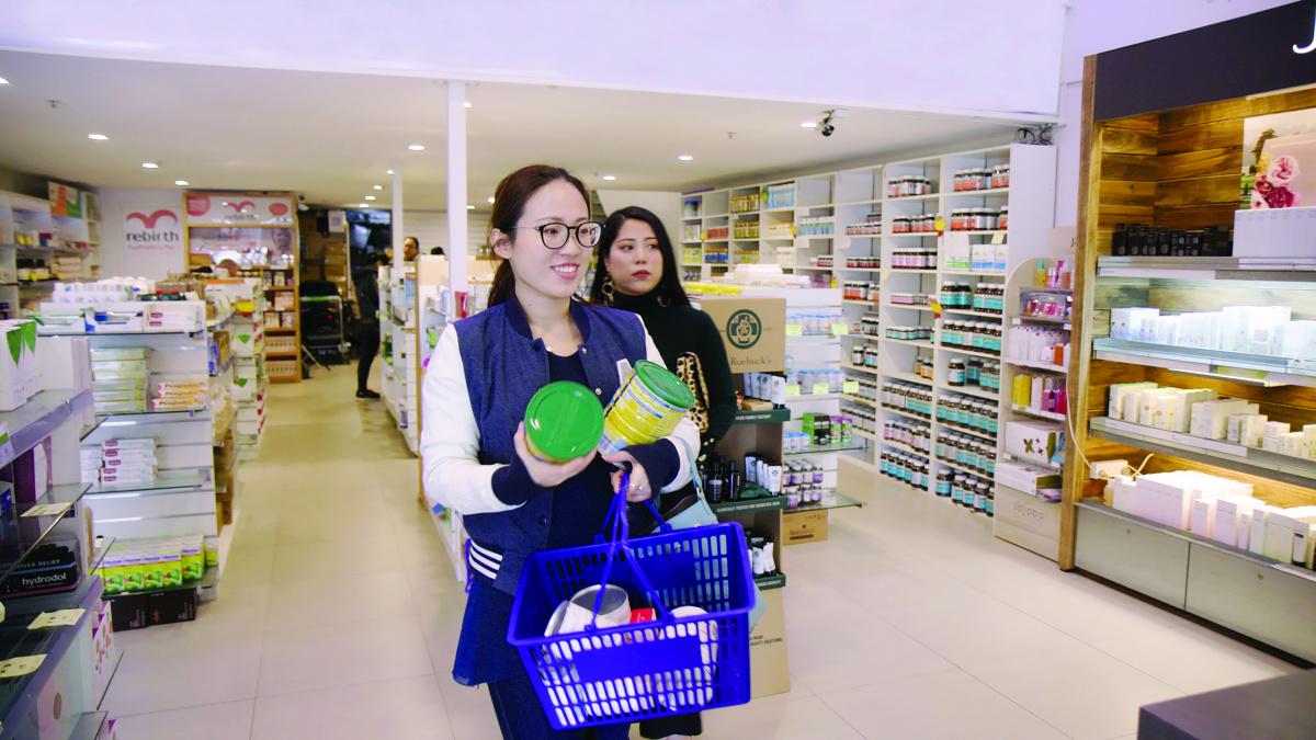 A woman shops at AuMake Parramatta.
