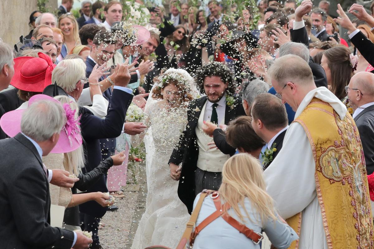 Rose Leslie Kit Harington wedding