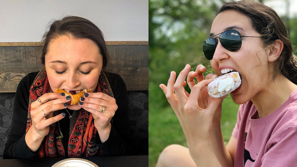 Women eating food