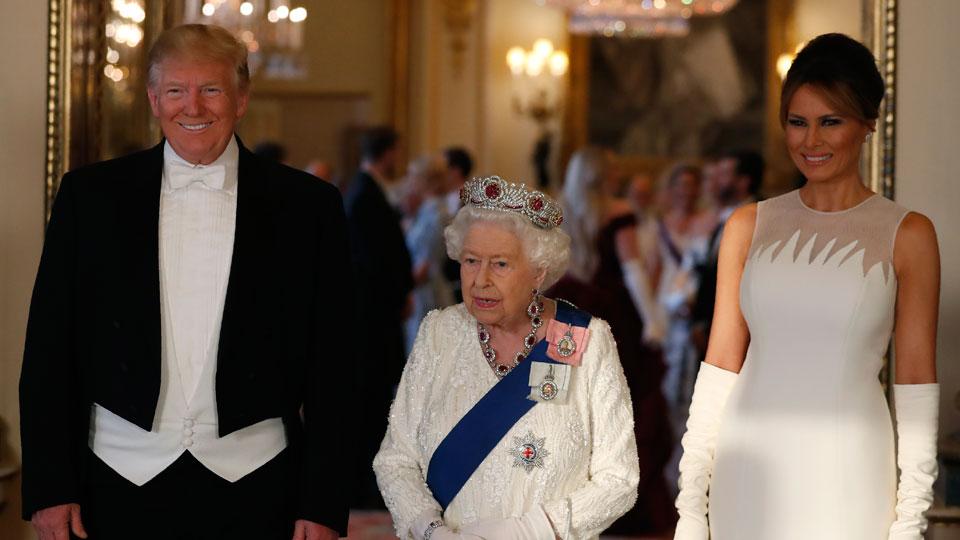 Donald Trump Queen Elizabeth Melania Trump