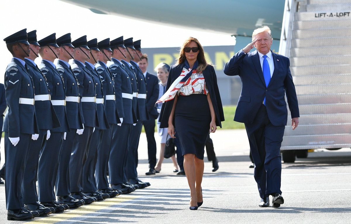 Melania Trump Donald Trump Stansted