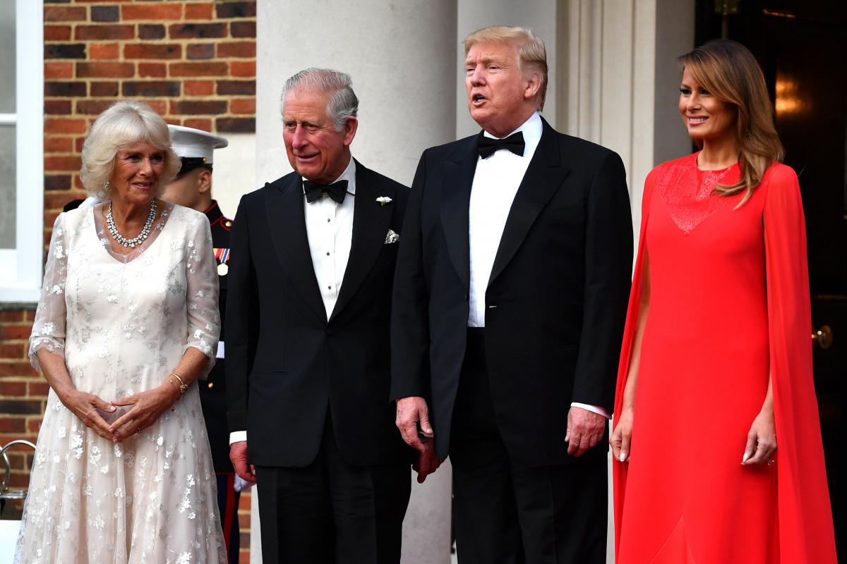 Prince Charles Camilla Donald Trump Melania Trump