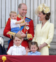 Cambridge family Trooping the Colour