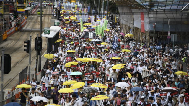 Protesters fill Hong Kong streets to stop watered-down extradition laws