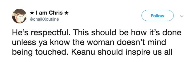 Keanu Reeves tweet