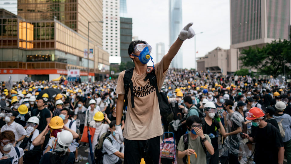The Chinese government has been accused of attempting to silence the Hong Kong protesters.