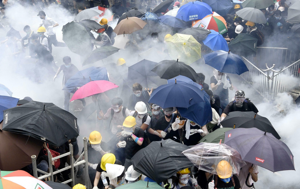 On Wednesday the violence erupted again as the police tried to move demonstrators. Photo: AAP
