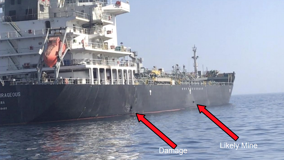 US releases video after twin blasts on Gulf oil tankers