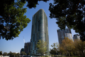 Residents of Opal Tower were evacuated after cracks appeared.
