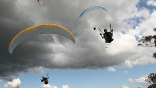 parachutists jump plane fuel
