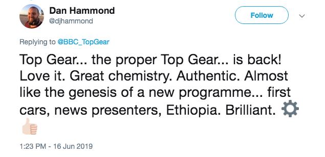 Top Gear tweet