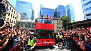 raptors victory parade shot