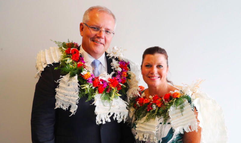 Scott Morrison is being urged to interrupt his Fijian holiday to recall Parliament next week. Photo: Twitter