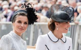 Queen Letizia Duchess of Cambridge Windsor June 17