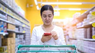 Supermarket smartphone