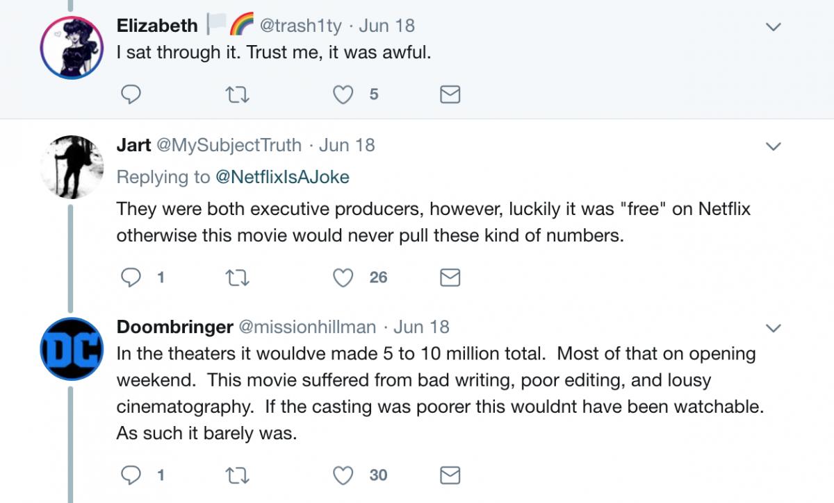 Murder Mystery tweet