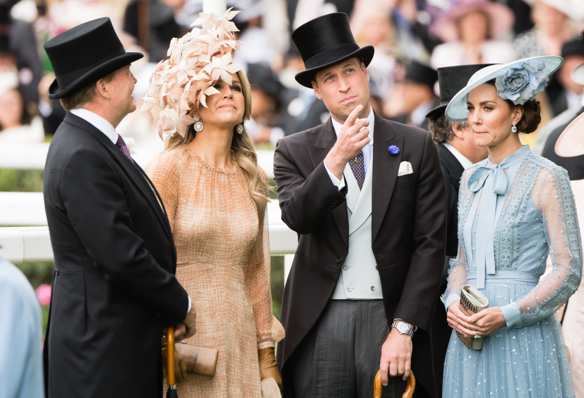 Queen Maxima Prince William Kate Middleton