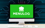 MenuLog's logo on an Apple computer.