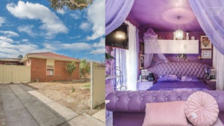 The outside and inside of the property in Coolaroo