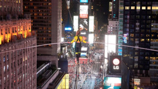 times square high wire