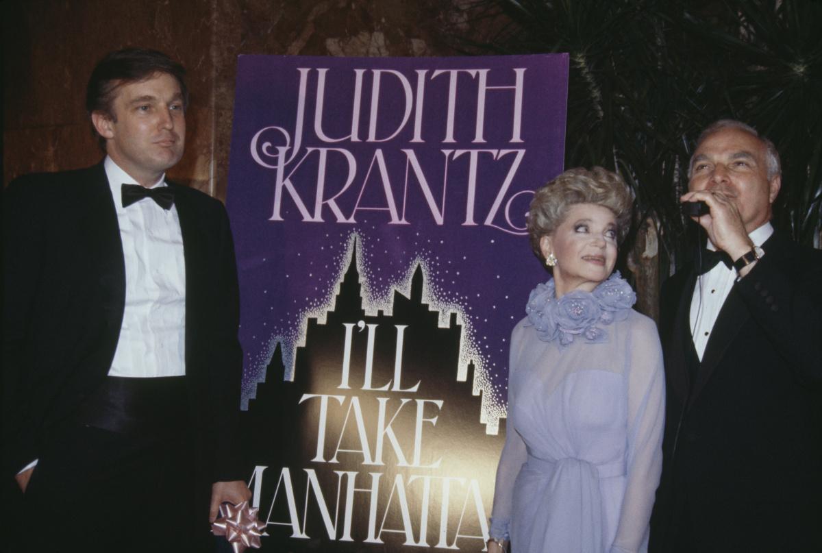 Judith Krantz Donald Trump 1986.