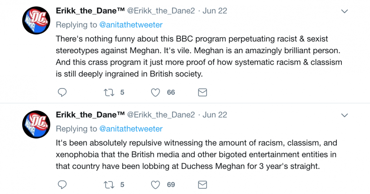 Meghan Markle BBC tweet