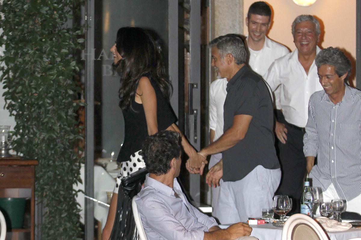 George Clooney Amal Clooney Lake Como 2015