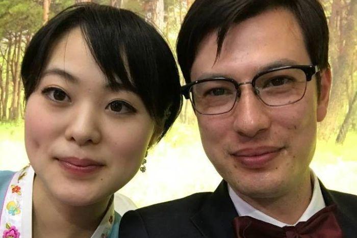 Alek Sigley and his Japanese-born wife Yuka Morinaga last year. Photo: Alek Sigley