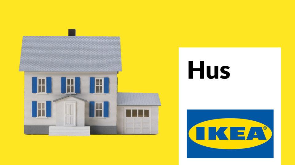 An IKEA-inspired home logo.