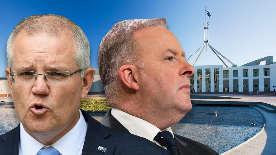 Scott Morrison Anthony Albanese