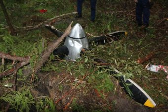 The propeller that dropped off was found in bushland in Sydney's outer suburbs.