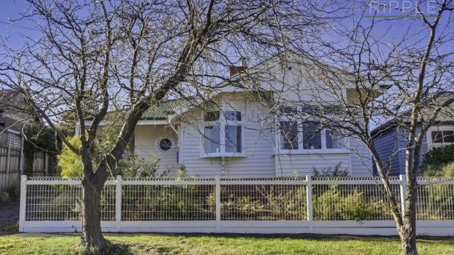 Creeping up on its 100th birthday, this three-bedroom house in Moonah is on the market for over $420,000. <i>Photo: realestateview.com.au</i>