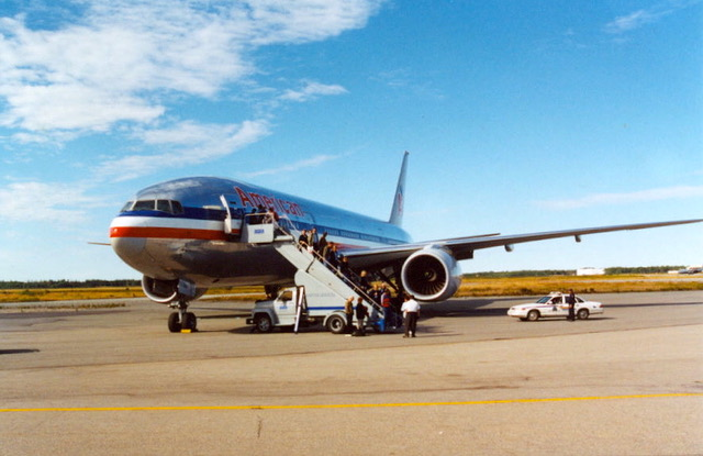 American Airlines plane September 12 2001