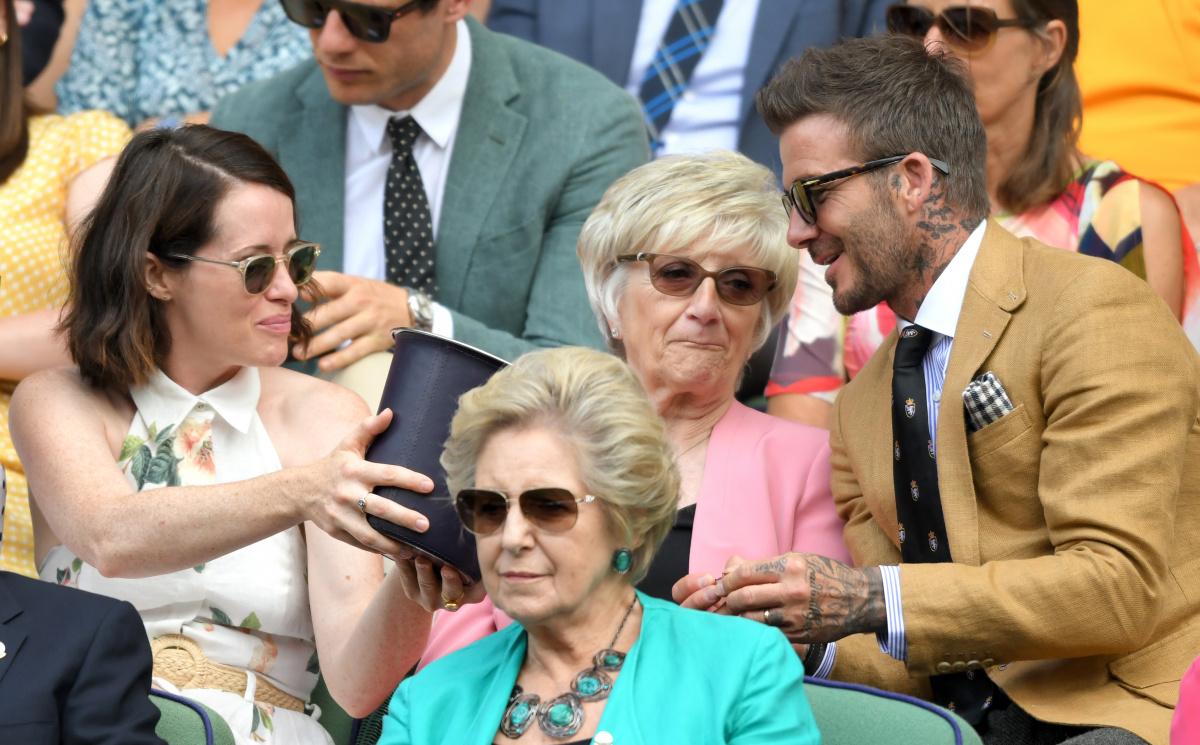 Claire Foy David Beckham Wimbledon 2016