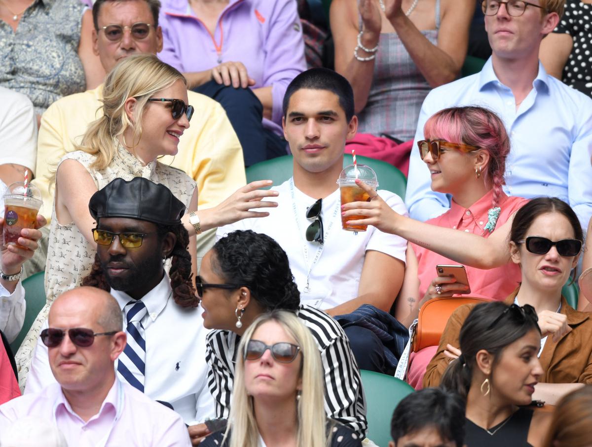 Poppy Delevingne Reuben Selby Maisie Williams Wimbledon